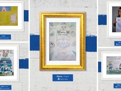Nacrtaj Bijelo-plavu uskršnju čestitku